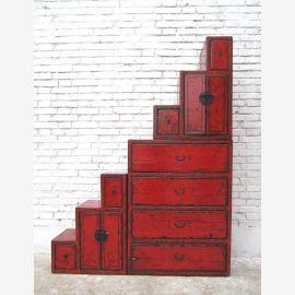 Chine Haute niveaux commode tiroirs de dorer des deux côtés ouvrants sous les escaliers