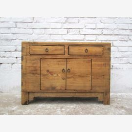 Chinese naturel Mongolie vers 1890 petite commode commode orme