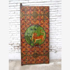 70 ans tigre de Chine peinture murale antique classique sur scène en bois peint