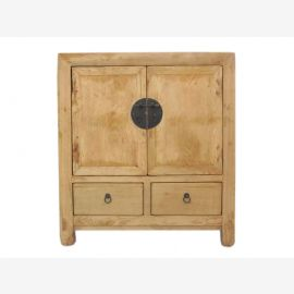 Chine avant 1890 massif vieille commode raboteuse orme lumineux