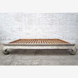 Chinois opium grand lit lit lit double avec matelas orme blanc