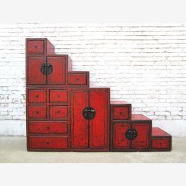 Chine de nombreux escaliers tiroirs brun réversible dans toutes les pentes