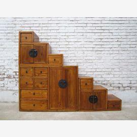 Chine idéal pour les escaliers de grenier tiroirs des deux côtés a sorti beaucoup de brun clair