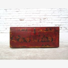 Tibet 1910 Colonial poitrine joliment peints en bois massif