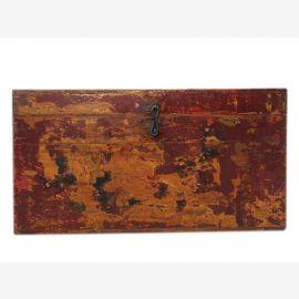 Chine Tibet 1910 vieux coffre de mariage avec la décoration élaborée en filigrane