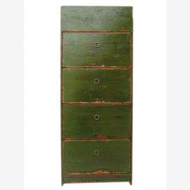 Chine armoire à chaussures pin vert 4 tiroirs larges et poussées latérales