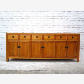 China massives Sideboard  Antikholz naturfarben