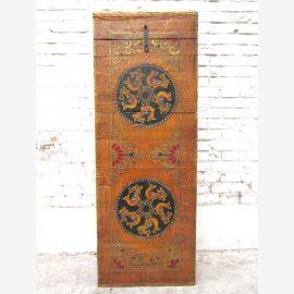 """Tibet semi-armoire haute tour de pilier commode pin d'or peinture classique brun du """"Luxury-park"""""""