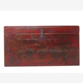 Mongolie 1880 Wedding Chest Chest extraordinaire peinture rareté antique