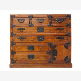 Chine petite commode pin corps miel