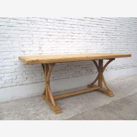 Bois Chine Shanxi 1860 table à manger rustique de table de l'orme lumière