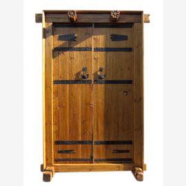 Chine Shanxi environ 1810 porte large porte d'entrée bois d'orme à deux battants avec cadre