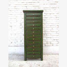 Chine haute commode tiroir tour collectionneurs armoire avec 13 tiroirs en pin massif