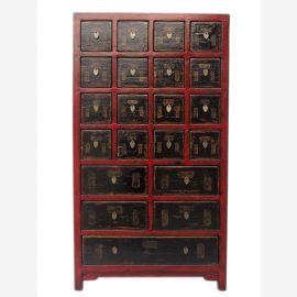 Chine semi- haute apothicaire armoire commode pin apparence du bois naturel avec de nombreux tiroirs