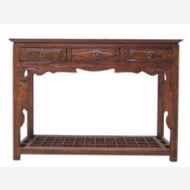 Shanxi en Chine vers 1860 Petit buffet garde-robe table bois d'orme sombre