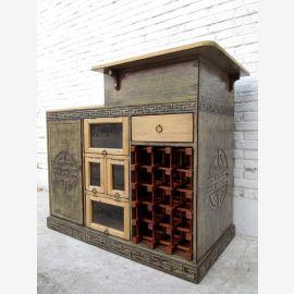 Incroyablement beau petit bar exclusif armoire logement de pins prévu Chine