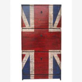 Tiroirs très britanniques Go raboteuse bahut Buffet Union Jack optique pour les fans britanniques