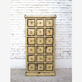 Chine 1940 collectionneurs du Cabinet beige apothicaire armoire pin nombreux tiroirs Luxe Parc