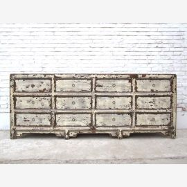 "Chine Shabby Chic large commode apothicaire armoire poitrine de douze tiroirs collectionneurs ""Luxury-park"""