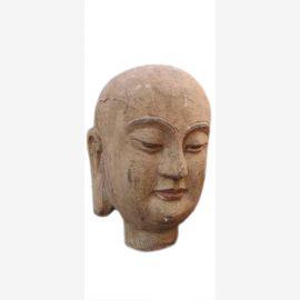 China 1940 Kopf Portraet Bueste Skulptur Bildhauerarbeit Blauglockenbaumholz