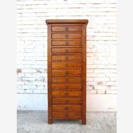 Chine haute crédence commode collecteur de bureau armoire à tiroirs pin doré finition marron Luxe Parc