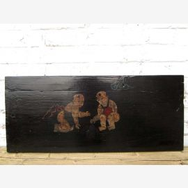 """Chine 120 ans traditionnelle peinte sur panneau de bois de pin enfants murales Scène du """"Luxury-park"""""""
