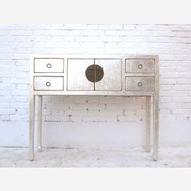 """Chine élégant longues jambes Table console armoire blanche neige laqué de pins du """"Luxury-park"""""""