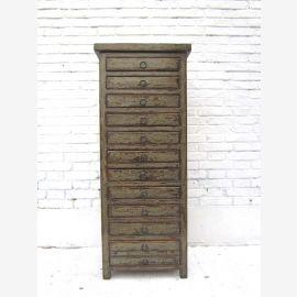 Pour le bureau à mi-hauteur tiroirs Collectionneurs de style shabby chic Cabinet Bisley sombre pin gris Luxe Parc