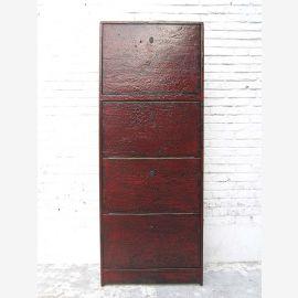 """Chine haute chaussure peinture armoire marron Antic Regardez 4 grands compartiments des best-sellers du """"Luxury-Park"""""""