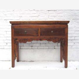 """Chine 1920 filigrane salle commode coiffeuse bureau d'or bois d'orme brun du """"Luxury-park"""""""