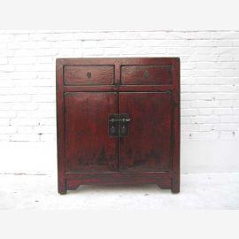 """Chine petite poitrine de portes tiroirs et tiroirs rouge-brun montage pin métallique du """"Luxury-park"""""""