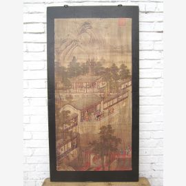 Asie cadre murale brun Pékin environ 80 ans pin cadeau d'arbre