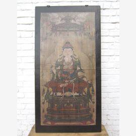 Cadre murale Asie de divinité bouddhiste brun Pékin 1,930 Pine