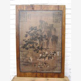 Chine murale nature trame scène de pin Pékin environ 85 ans