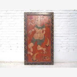 Chine Tibet divinité murale cadre fini antique en bois massif