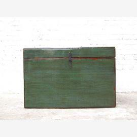 """Chine Mongolie 1900 poitrine vert foncé peint pin avec des traces de """"Luxury-Park"""""""