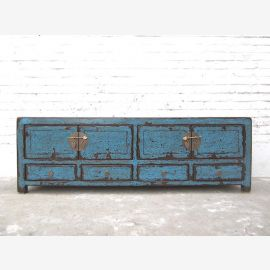 Asie TV Lowboard commode millésime azur Shabby Chic