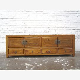 Asie Lowboard TV Chest Vintage Style Tan