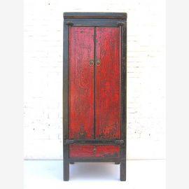 """Chine armoire haute de l'armoire mince peint en couleurs de finition pin antique classique avec des traces de """"Luxury-Park"""""""
