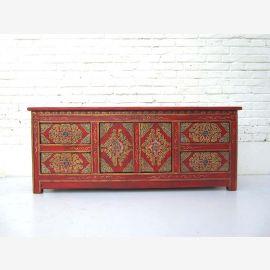 "Chine Tibet plat large commode 4 tiroirs Buffet rouge pin grande peinture du ""Luxury-Park"""