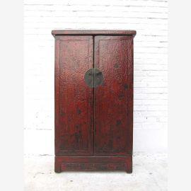 """Chine semi-haute armoire double porte avec raccord en laiton rouge-brun bois peinture de pins du """"Luxury-park"""""""