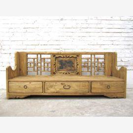 """rareté unique, Shanxi ancien grand style de pays tiroirs de piédestal de siège orné de 120 ans Spruce du """"Luxury-park"""""""