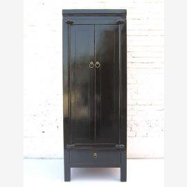 """Chine style colonial mince demi-hauteur noir brillant finition armoire avec tiroir dans la base du """"Luxury-Park"""""""