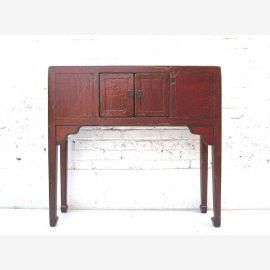 """Chine Table armoire de buffet style colonial classique avec du rouge-brun éraflures de peinture du """"Luxury-Park"""""""