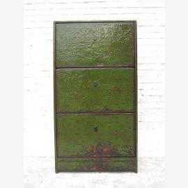"""Peinture Chine centrale armoire à chaussures vert anglais trois sujets retrace Shabby chic """"Luxury-Park"""""""