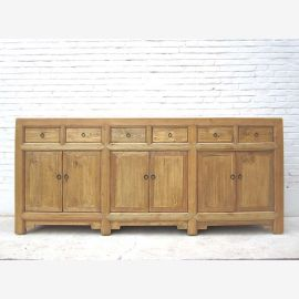 Asie 1920 sur un large Buffet Antique style cottage