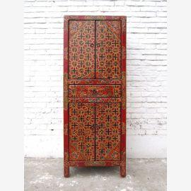 Asie highboard armoire Tibet antique 100 ans de pin peint