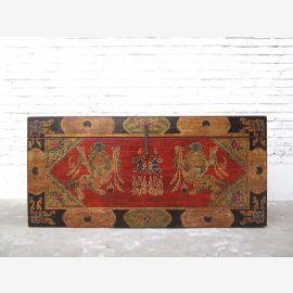 Chine Tibet Commode classique peinture fantastique environ 1930 années Pinie