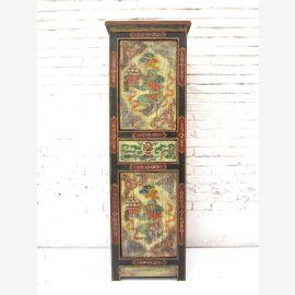 """Chine Tibet 1930/2 armoire haute commode peinte dans des tons pastel de bois de pin du """"Luxury-Park"""""""