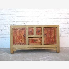 Chine Buffet commode couleur naturelle de style vintage en bois de pin